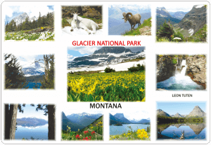 Glacier National Park Placemat-Front