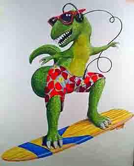 Surfing Dinosaur (kreitzburg)338